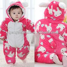 Lovely Rabbit Design Baby Romper Long-Sleeved New Born Girl Bodysuits