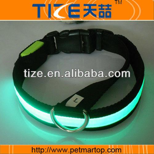 Hot flat optical fiber collar TZ-PET1036 Green leash dog shock collar