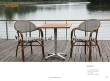 Roma 4 teak table Alum textyline chair cafeteria table and chair