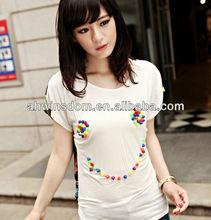 KOREA NEW FASHION LADIES LOOSE POPULAR T-SHIRTS 2013