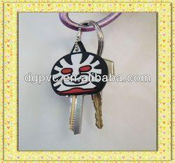 promotion custom logo car shape pvc novel key head cover