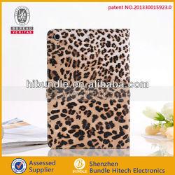 Stylish leopard for ipad mini rotating leather case