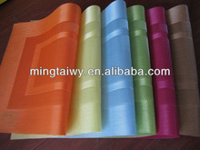 2014 Spring woven pvc placemat, table mat, napkin