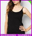 2014 as últimas mulheres tops com malha preta fina espaguete strapes ombro