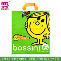 Cartoon logo bulk plastic book shopping bags with handles
