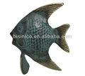 Exterior decoración de jardín de metal, Bronce antiguo peces tropicales escultura