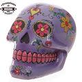 polyresin el día de los muertos mexicanos del cráneo de caja de dinero