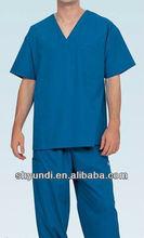 100%cotton and blue nurse uniform