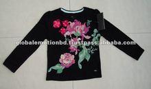 100% cotton women fancy t shirt with cute print
