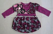 Baby girls' dress, kids Bud skirt BUR long sleeve children dress
