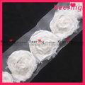 60 mm rosa de tela de encaje de la cinta de la franja del ajuste para el vestido nupcial / de la boda WTP-898
