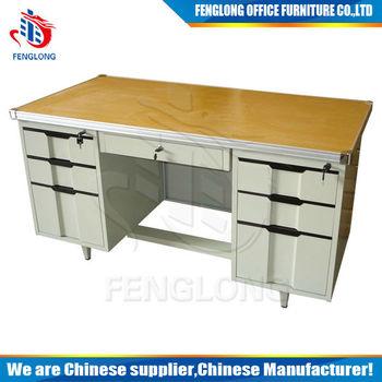 Luoyang good cheap office furniture desks /steel desks furniture/modern cheap desk table design