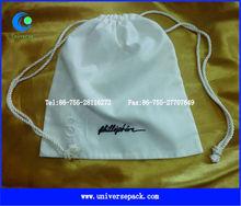pure cotton drawstring shoe bag