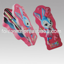 rabbit shaped metal pencil case,school stationary supplier