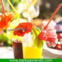 Good quality custom fancy sunflower plastic drinking straws