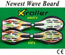 new design 2 wheels plastic drift and caster skate board
