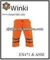 impermeável calças de segurança com fita reflexiva