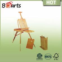 wooden artist studio easel oiled or varnish finishing ideal