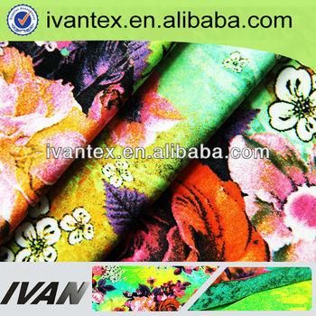Fashion new design soft knitted weft digital printing polyamide fabric