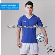 Football/Soccer Team Short Sports Suit, Blue + White