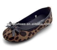 Estampado de leopardo zapatos planos china , moda barata venta al por mayor de los zapatos