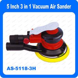 5 Inch Air Sander (Non Vacuum, Self Generated Vacuum, Central Vacuum)