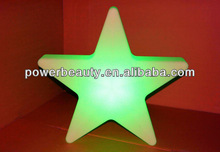 2013 lastest waterproof plastic color changing led christmas star decoration&remote control&rechargeable battery