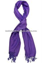 purple pashmina and silk scarves