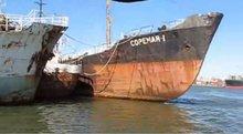 Naval steel scrap