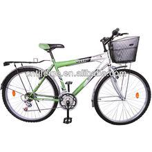26 steel simple men bike mountain bike with basket