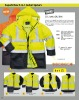 Superb 5-in-1 Fluorescent Safety Waterproof Breathable Rainwear Jacket
