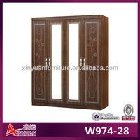 W974-28 wholesale cheap 4 door fabric wardrobe closet
