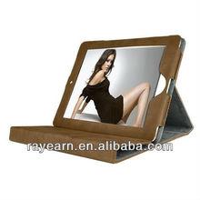 smart cover for ipad mini/new ipad Stand Four Folder PU Leather Smart Case Cover