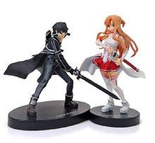 "2pcs Set Anime Sword Art Online SAO Figure I Asuna Yuuki Kirito 6"" Figure New In Box"
