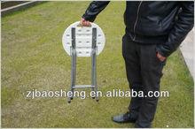 mini plastic foldable dining stool white color 30cm round portable