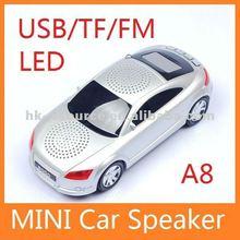 Support FM Radio USB/Micro SD/TF Card car mini speaker