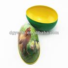 "Christmas ""Easter Egg Shaped Tin Box packaging"