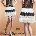 00006wh gazlı Tutu nwt Kızlar siyah beyaz moda bayan mini etek