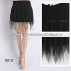 00010BK Fashion Gauze Lace Nwt Sexy Women Girls Black Mini Skirt