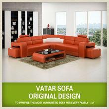 International style furniture half round leather sofas