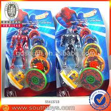 5 layper spinning top spider man toy