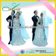 Resin popular wedding couple bobble head