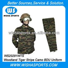 US Army Woodland Tiger Stripe Camo Tactical BDU Uniform