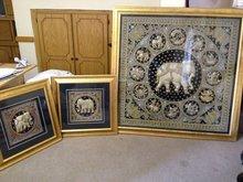 3 X Traditional Kalaga art pieces