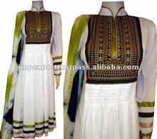 Ladies Stylish Readymade Cotton Kali Frock with Churidar Pajama / Trouser ( 3 pcs suit )