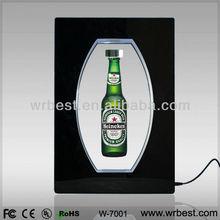 Beautiful Advertising LED Acrylic Display for Christmas Promotion! Maglev Rotating Display Racks W-7001