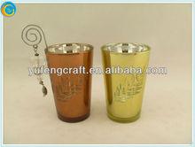 tear drop glass candle holder,creative golf gift,glass hurricane candle holders