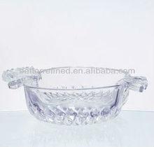 hand made glass dessert dish/simple designed/apple shape