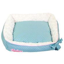 100% Cotton Winter Aqua Blue Bed metal frame dog bed