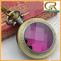 16o bronze vintage ouro big-de-rosa bolso de cristal relógio de senhoras